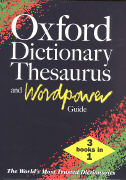 Cover-Bild zu Oxford Dictionary Thesaurus and Wordpower Guide
