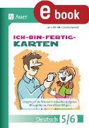 Cover-Bild zu Ich-bin-fertig-Karten Deutsch Klassen 5-6 (eBook) von Grzelachowski, Lena-Christin
