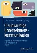 Cover-Bild zu Glaubwürdige Unternehmenskommunikation (eBook) von Tomfeah, Anna (Hrsg.)