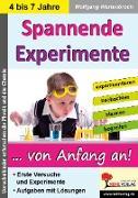 Cover-Bild zu Spannende Experimente im Kindergarten (eBook) von Wertenbroch, Wolfgang
