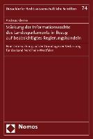 Cover-Bild zu Klenke, Andreas: Stärkung der Informationsrechte des Landesparlaments in Bezug auf beabsichtigtes Regierungshandeln