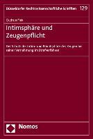 Cover-Bild zu Fink, Gudrun: Intimsphäre und Zeugenpflicht