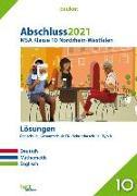 Cover-Bild zu Abschluss 2021 - Mittlerer Schulabschluss Nordrhein-Westfalen Lösungen