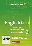 Cover-Bild zu English G 21, Vorschläge zur Leistungsmessung - Erweiterte Ausgabe D, Band 4: 8. Schuljahr, Leistungsmessung, CD-Extra (CD-ROM und CD auf einem Datenträger), Inhaltlich identisch mit 978-3-06-031988-6