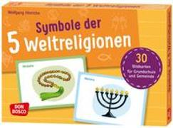 Cover-Bild zu Bildkarten Symbole der 5 Weltreligionen von Hinrichs, Wolfgang