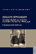 Cover-Bild zu Eduard Spranger (eBook) von Hinrichs, Wolfgang (Hrsg.)