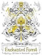 Cover-Bild zu Enchanted Forest: 12 Colour-in Notecards von Basford, Johanna (Illustr.)