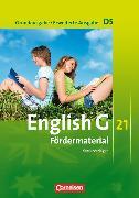 Cover-Bild zu Wright, Jon: English G 21. Grundausgabe / Erweiterte Ausgabe D5. Fördermaterial