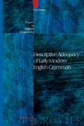 Cover-Bild zu Dons, Ute: Descriptive Adequacy of Early Modern English Grammars