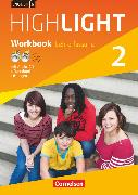 Cover-Bild zu English G Highlight, Hauptschule, Band 2: 6. Schuljahr, Workbook mit Audio-CD, Audios online und CD-ROM (e-Workbook) - Lehrerfassung von Berwick, Gwen