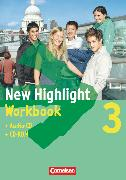 Cover-Bild zu New Highlight, Allgemeine Ausgabe, Band 3: 7. Schuljahr, Workbook mit CD-ROM und Text-CD von Berwick, Gwen