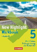 Cover-Bild zu New Highlight, Baden-Württemberg, Band 5: 9. Schuljahr, Werkrealschulen (3 Wochenstunden), Workbook mit Lieder-/Text-CD von Berwick, Gwen