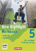 Cover-Bild zu New Highlight, Allgemeine Ausgabe, Band 5: 9. Schuljahr, Workbook mit CD-ROM und Text-CD von Berwick, Gwen
