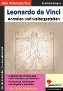 Cover-Bild zu Leonardo da Vinci ... anmalen und weitergestalten (eBook) von Berger, Eckhard
