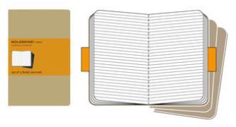 Cover-Bild zu Moleskine Cahier large. Ruled. Kraft Cover