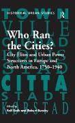 Cover-Bild zu Roth, Ralf: Who Ran the Cities? (eBook)