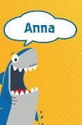 Cover-Bild zu Anna: Great White Shark Blank Comic Book Notebook Journal Book 120 Pages 6x9 von Cole, Rob
