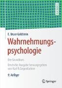 Cover-Bild zu Wahrnehmungspsychologie von Goldstein, E. Bruce