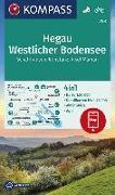 Cover-Bild zu KOMPASS Wanderkarte Hegau Westlicher Bodensee, Schaffhausen, Konstanz, Insel Mainau. 1:50'000