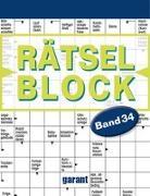 Cover-Bild zu garant Verlag GmbH (Hrsg.): Rätselblock Band 34