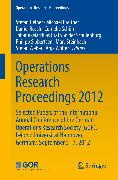 Cover-Bild zu Breitner, Michael (Hrsg.): Operations Research Proceedings 2012 (eBook)