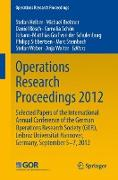 Cover-Bild zu Helber, Stefan (Hrsg.): Operations Research Proceedings 2012