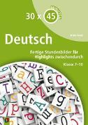 Cover-Bild zu 30 x 45 Minuten: Deutsch von Book, Britta