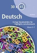 Cover-Bild zu 30 x 45 Minuten: Deutsch von Wessel, Jan-Frederik