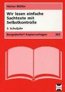 Cover-Bild zu Wir lesen einfache Sachtexte mit Selbstkontrolle. 3. Schuljahr von Müller, Heiner