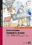 Cover-Bild zu Stationenlernen Deutsch 5. Klasse (eBook) von Heidemann, Tim