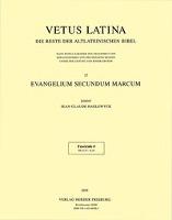 Cover-Bild zu Evangelium secundum Marcum