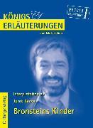 Cover-Bild zu Bronsteins Kinder von Jurek Becker. Textanalyse und Interpretation (eBook) von Becker, Jurek