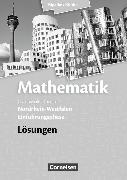 Cover-Bild zu Mathematik Sekundarstufe II. Einführungsphase. Lösungen zum Schülerbuch. NW von Bigalke, Anton