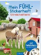 Cover-Bild zu Bräuer, Ingrid (Illustr.): Mein Fühl-Stickerheft - Streicheltiere
