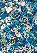 Cover-Bild zu Set: 2 x Maritimes Notizbuch - Illustration: Maritime Welten