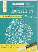 Cover-Bild zu Maxi-Vorlagenmappe Fensterdeko mit dem Kreidemarker - Jahreszeiten. Inkl. Original Kreul-Kreidemarker, Sticker und Glitzer-Steinchen