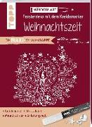 Cover-Bild zu Maxi-Vorlagenmappe Fensterdeko mit dem Kreidemarker - Weihnachtszeit. Inkl. Original Kreul-Kreidemarker, Sticker und Glitzer-Steinchen