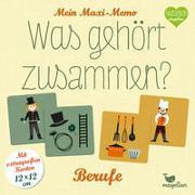 Cover-Bild zu Mein Maxi-Memo - Was gehört zusammen? - Berufe von Merkel, Daniela (Illustr.)