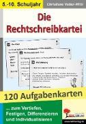 Cover-Bild zu Die Rechtschreibkartei 120 Aufgabenkarten mit Lösungen von Vatter-Wittl, Christiane