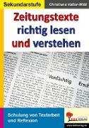 Cover-Bild zu Zeitungstexte richtig lesen und verstehen (eBook) von Vatter-Wittl, Christiane
