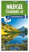 Cover-Bild zu Walensee - Toggenburg Ost 15 Wanderkarte 1:40 000 matt laminiert. 1:40'000