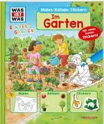 Cover-Bild zu WAS IST WAS Kindergarten Malen Rätseln Stickern Im Garten von Marti, Tatjana