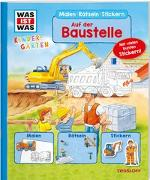 Cover-Bild zu WAS IST WAS Kindergarten Malen Rätseln Stickern. Auf der Baustelle von Marti, Tatjana
