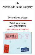 Cover-Bild zu Saint-Exupéry, Antoine de: Lettre à un otage, Brief an einen Ausgelieferten