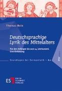 Cover-Bild zu Bein, Thomas: Deutschsprachige Lyrik des Mittelalters