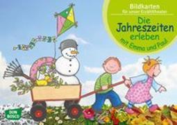 Cover-Bild zu Lehner, Monika: Die Jahreszeiten erleben mit Emma und Paul. Kamishibai Bildkartenset