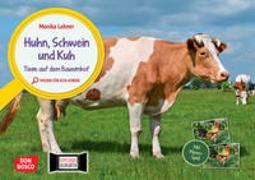 Cover-Bild zu Lehner, Monika: Huhn, Schwein und Kuh. Tiere auf dem Bauernhof. Kamishibai Bildkarten und Memospiel