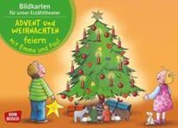 Cover-Bild zu Lehner, Monika: Bildkarten für unser Erzähltheater: Advent und Weihnachten feiern mit Emma und Paul