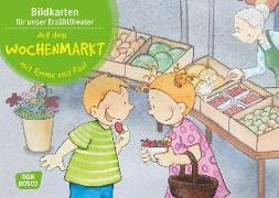 Cover-Bild zu Lehner, Monika: Auf dem Wochenmarkt mit Emma und Paul. Kamishibai Bildkartenset