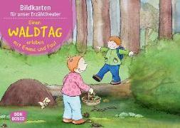Cover-Bild zu Lehner, Monika: Einen Waldtag erleben mit Emma und Paul. Kamishibai Bildkartenset